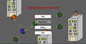 Zombie Shooter Survival Menu