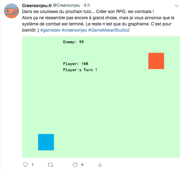 Tweet Tuto RPG Combat