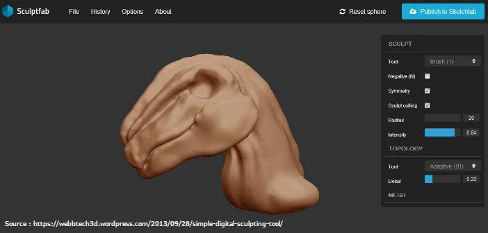 SculptGL / SculptFab : Sculptez sur Navigateur
