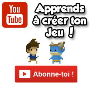 Apprendre créer un jeu youtube