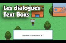 Les dialogues et text box
