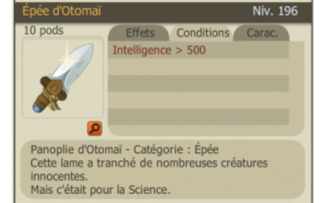 Dofus description item