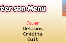 Créer son Menu Game Maker Studio 2